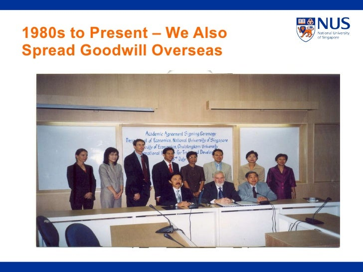1980s to Present – We Also Spread Goodwill Overseas