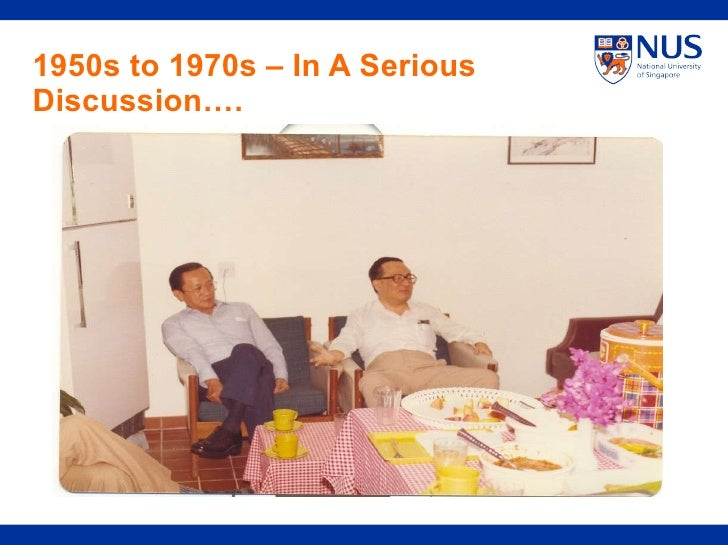 1950s to 1970s – In A Serious Discussion….