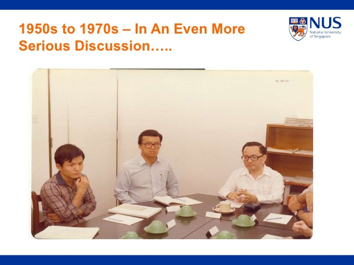1950s to 1970s – In An Even More Serious Discussion…..
