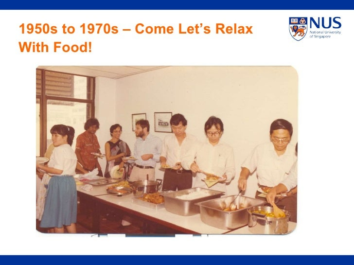 1950s to 1970s – Come Let's Relax With Food!