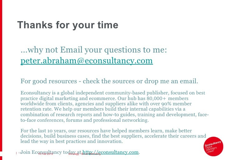 Econsultancy: Email Marketing