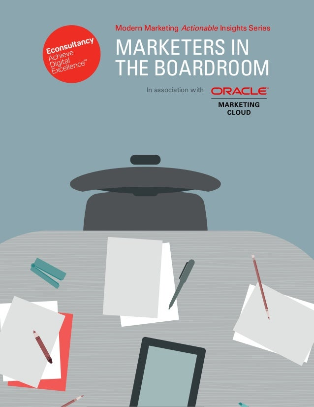 MARKETERS IN THE BOARDROOM In association with Modern Marketing Actionable Insights Series