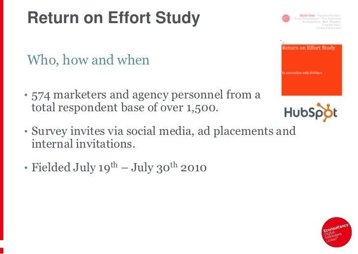 Where does the time go? Return-on-Effort Study Webinar Slides Slide 3