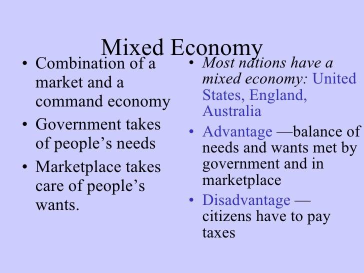 advantages of mixed market economy
