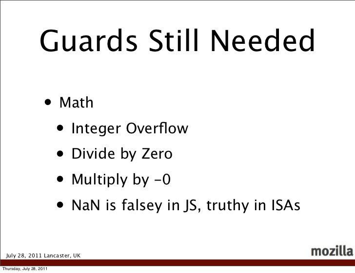 Guards Still Needed                    • Math                     • Integer Overflow                     • Divide by Zero  ...