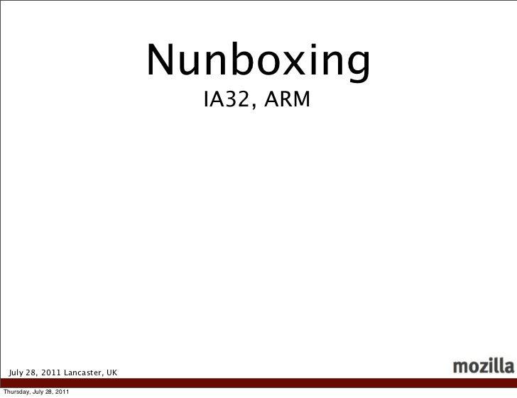 Nunboxing                                 IA32, ARM July 28, 2011 Lancaster, UKThursday, July 28, 2011