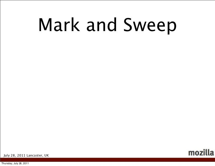Mark and Sweep July 28, 2011 Lancaster, UKThursday, July 28, 2011