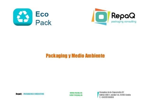 Packaging y Medio Ambiente                                         www.repaq.es    Complex de la Caparrella 97RepaQ – PACK...