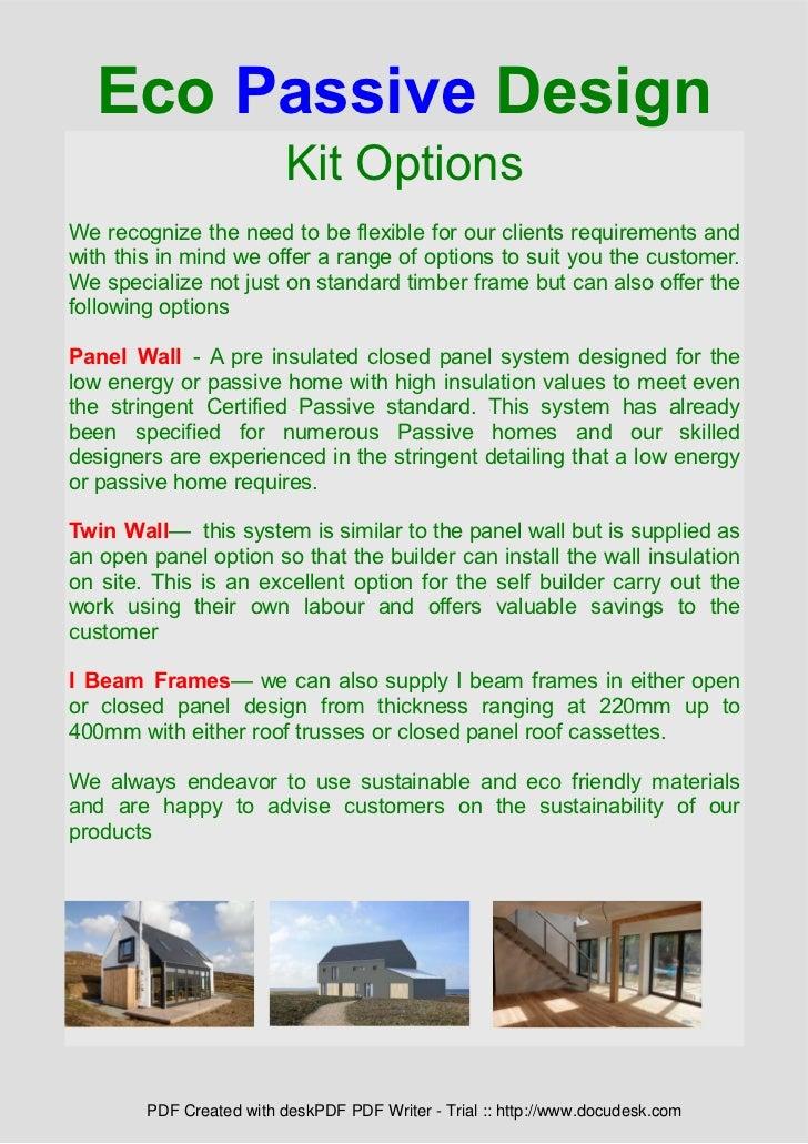 Eco passive house brochure