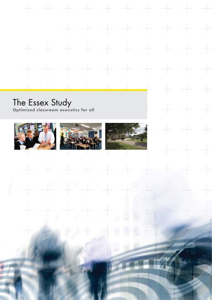 The Essex StudyOptimised classroom acoustics for all