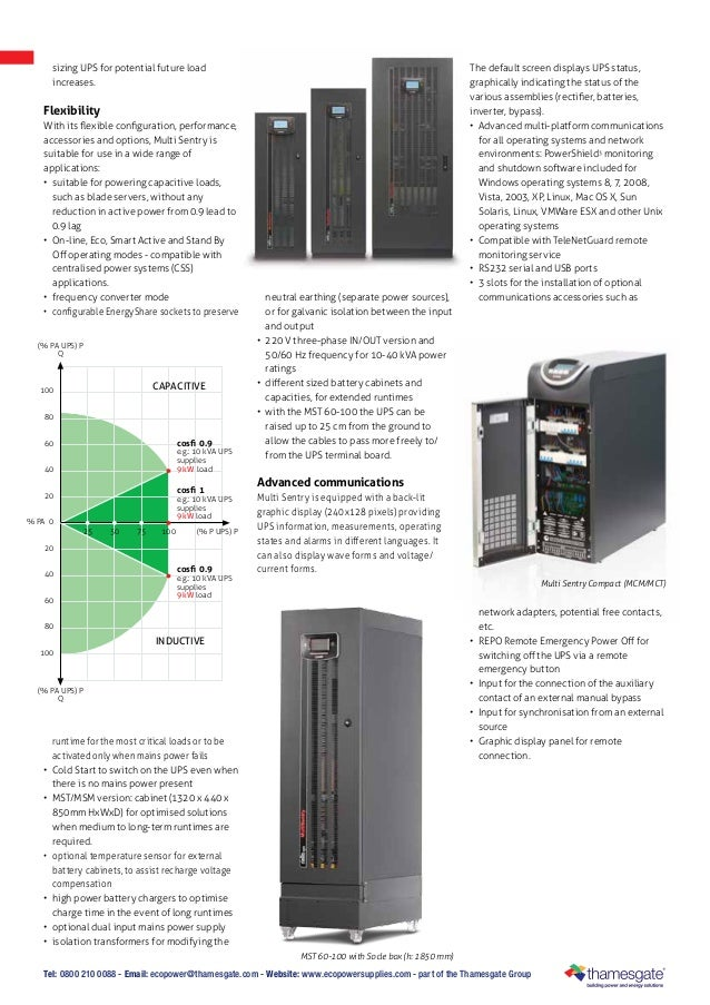 Riello Multi Sentry Uninterruptible Power Supplies Suppliers