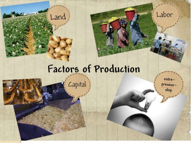 the factors of production and their I am reading mankiw's intermediate economics text what i find is that when he writes a production function for how much will be produced in an economy he says it is.