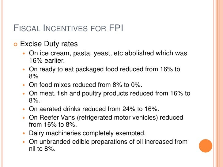 Import Duty In India For Food Products