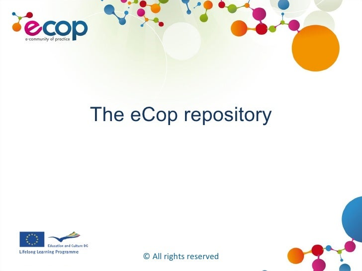 The eCop repository © All rights reserved