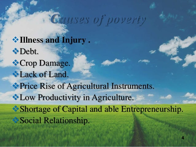 """poverty and low production agriculture People engaged in agriculture in developing countries, about 1 billion derive a substantial part of their  the countries dependent on commodities already suffer from widespread poverty and have low human development indicators2 """"of the 30 countries with the lowest hdi  farmers and workers rely on commodity production for the cash."""