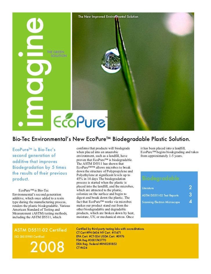The New Improved Environmental Solutionimagine                      THE GREEN                               SOLUTION      ...