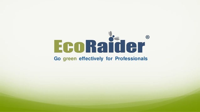 Go green effectively for Professionals