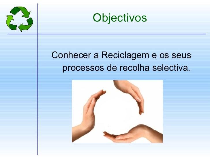 Reciclagem e separacao de residuos Slide 2