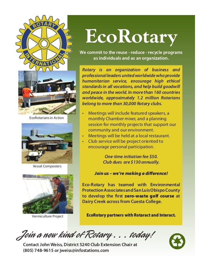 EcoRotary                             We commit to the reuse - reduce - recycle programs                                  ...