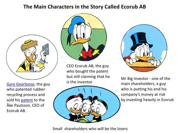 The Main Characters in the Story Called Ecorub AB                                 CEO Ecorub AB, the guy                  ...