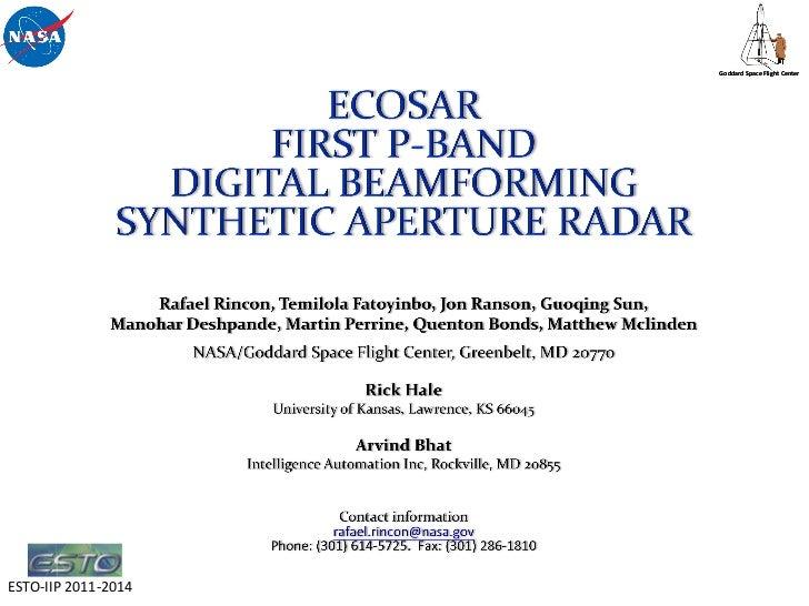 Goddard Space Flight CenterESTO-IIP 2011-2014