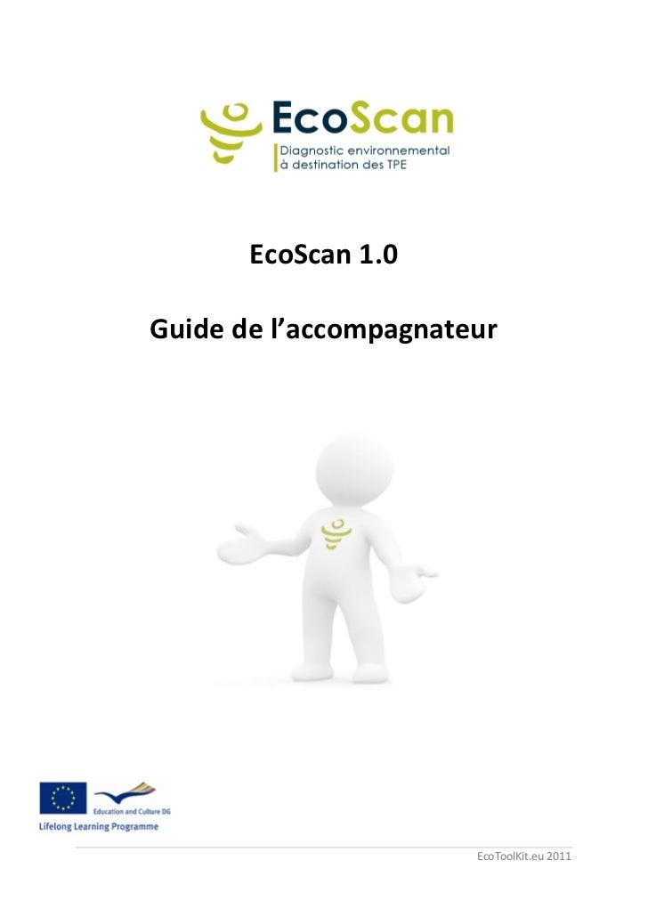 EcoScan 1.0Guide de l'accompagnateur                       EcoToolKit.eu 2011