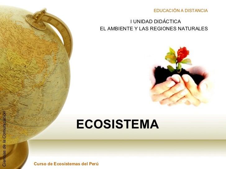 ECOSISTEMA I UNIDAD DIDÁCTICA EL AMBIENTE Y LAS REGIONES NATURALES