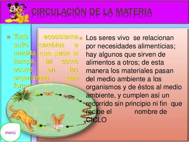 Ecosistemas - Alimentos para la circulacion ...