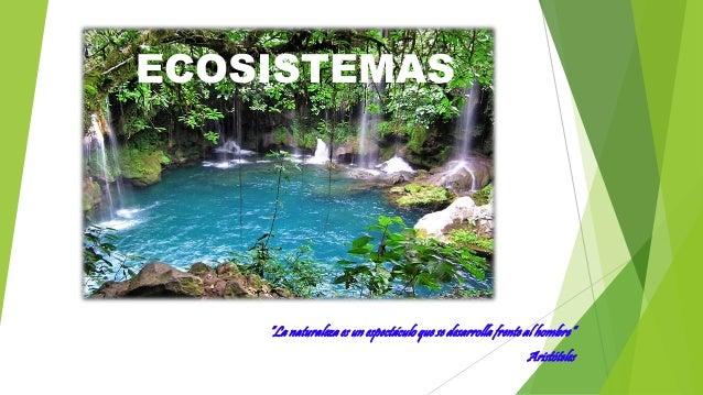 """ECOSISTEMAS """"La naturaleza es un espectáculo que se desarrolla frente al hombre"""" Aristóteles"""