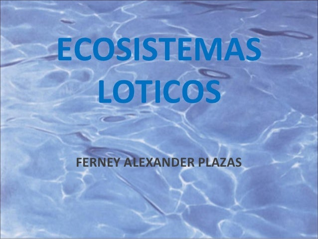 Ecosistemas loticos