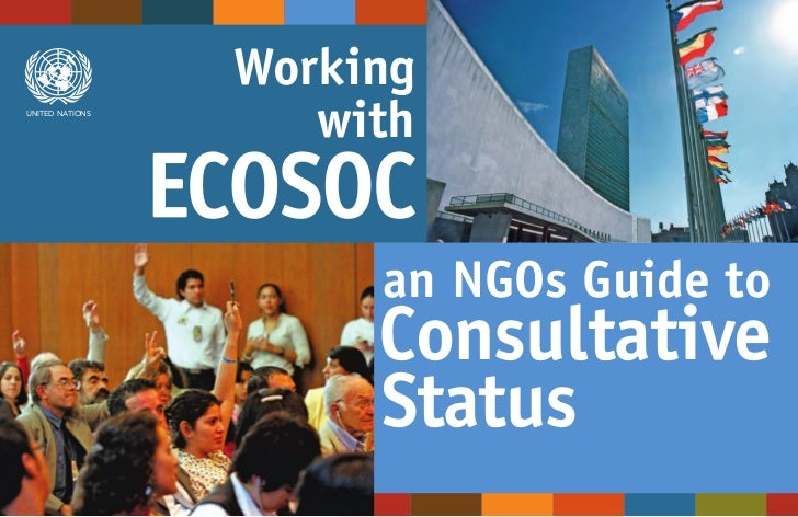 WorkingUNITED NATIONS                    with                      an NGOs Guide to                      Consultative     ...