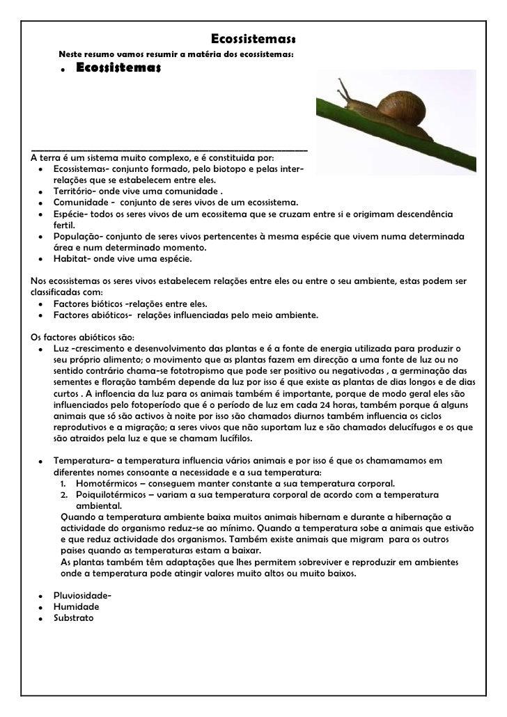 right590550Ecossistemas:<br />            Neste resumo vamos resumir a matéria dos ecossistemas: <br />Ecossistemas<br />_...