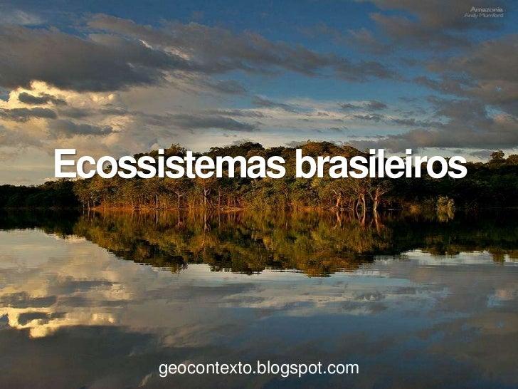 Ecossistemas brasileiros      geocontexto.blogspot.com