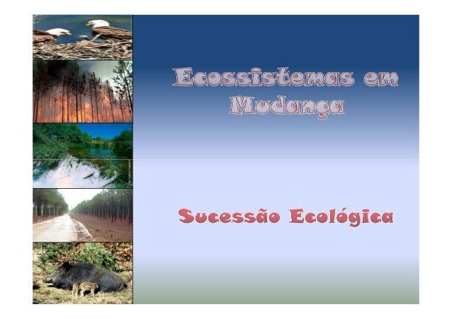 As comunidades naturais mudam ao longo do tempo, substituindo-se umas às outras numa dada área. Além disso a vida pode ins...