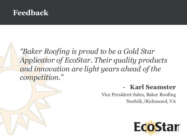 Ecostar Sustainable Roofing Composite Roofing Products