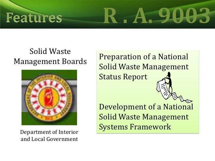 ecological solid waste management act of Barangay ecological solid waste management beswm, malate, manila, metro manila 11k likes ecologically aware, enlightened, and empowered filipinos and.