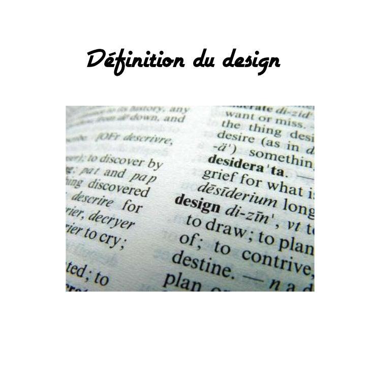 Définition du design