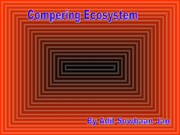Compering Ecosystem By Adil Sowbaan Jan