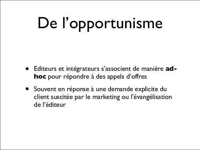 L'innovation dans les                 écosystèmes                       Partenariat       Editeurs                        ...