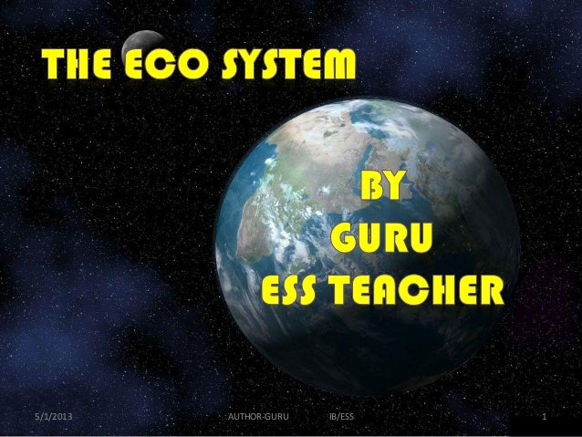 5/1/2013  AUTHOR-GURU  IB/ESS  1