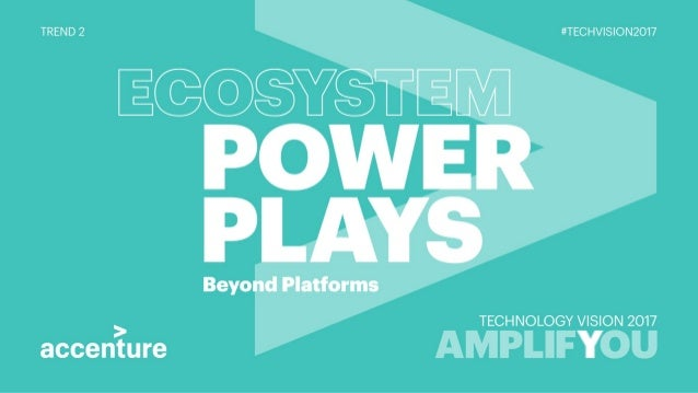 Ecosystem Power Plays - Tech Vision 2017 Trend 2