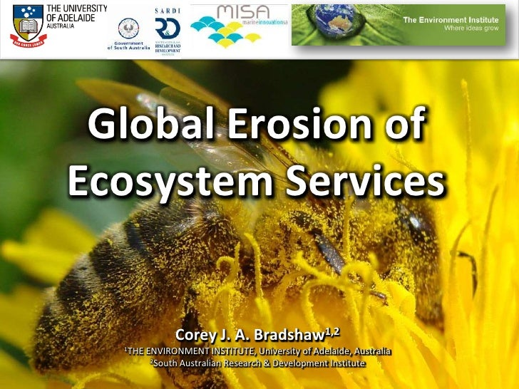 Global Erosion of Ecosystem Services<br />Corey J. A. Bradshaw1,2<br />1THE ENVIRONMENT INSTITUTE, University of Adelaide,...
