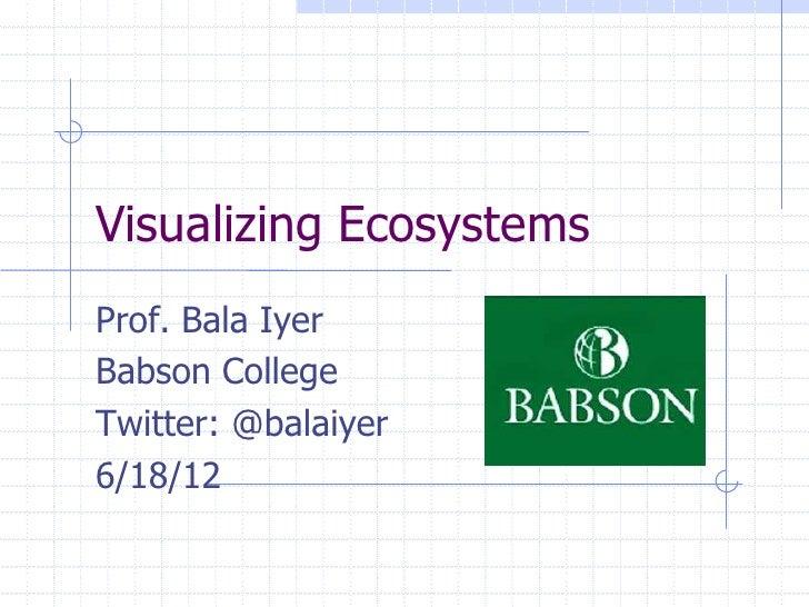 Visualizing EcosystemsProf. Bala IyerBabson CollegeTwitter: @balaiyer6/18/12