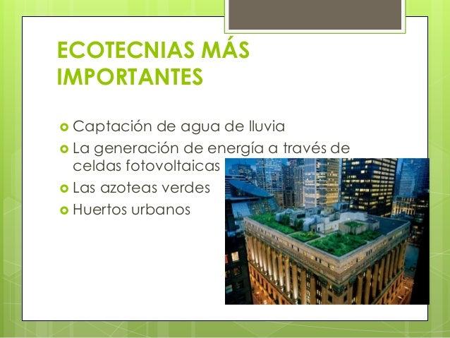 Arquitectura Y Las Ecotecnias