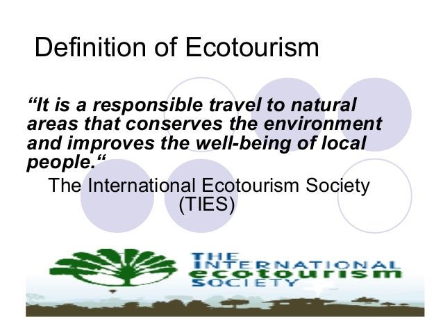 Definition of 'ecotourism'