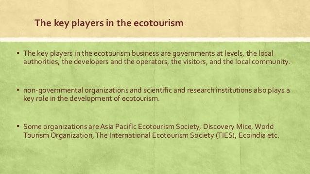 research papers on ecotourism in india Stakeholder participation approach to ecotourism in ecotourism the research by inspire future approaches in.