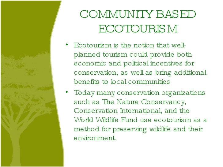 Nature Based Tourism Vs Ecotourism