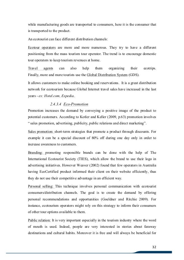 Phd thesis in tourism marketing