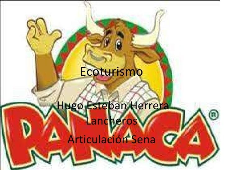 Ecoturismo  Hugo Esteban Herrera Lancheros  Articulación Sena