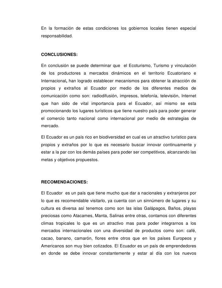 En la formación de estas condiciones los gobiernos locales tienen especialresponsabilidad.CONCLUSIONES:En conclusión se pu...